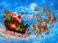 Diamond Painting Cross Stitch Santa Claus Full Diamond Embroidery new Mosaic Christmas Handicrafts broderie diamante stickers Merry Christmas, Christmas Scenes, Vintage Christmas Cards, Christmas Pictures, Father Christmas, Christmas 2015, Christmas Greetings, Santa And His Reindeer, Reindeer And Sleigh