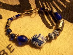 Rustic Bohemian Bracelet-Vintage Beads by ethnicinspired on Etsy