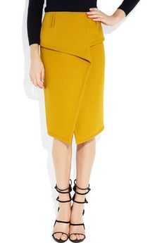 proenza schouler.  LOVE the mustard and asymmetric wrap/draping.