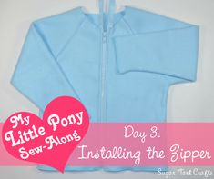 My Little Pony Costume Sew-Along - Day 3 : Installing the Zipper