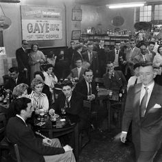 The Deuragon Arms. Once one of the best musical pubs in the East End of London and popular especially among the gay community. It was famous for its drag shows and female impersonators, Photograph, 1957