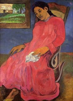 Paul Gauguin - Melancholic, 1891, oil on canvas