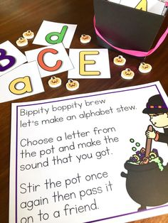 Fun Halloween letter sound practice for K-1! Bippity, Boppity, Boo!