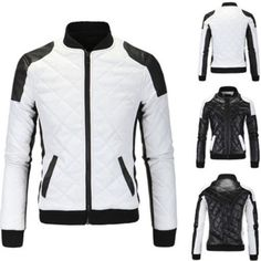 fb17d4d5089fc Men Coats And Jackets  Men S Jacket Slim Fit Motorcycle Leather Winter Warm Coat  Bomber Overcoat Chic -  BUY IT NOW ONLY   41.98 on eBay!