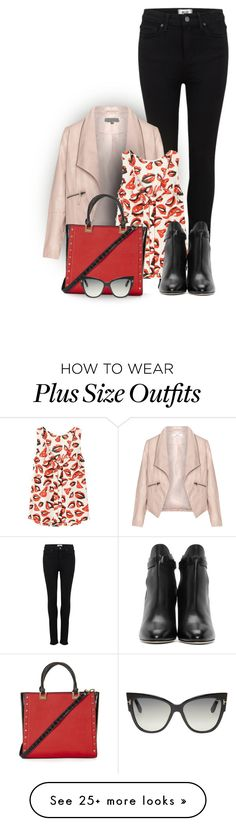 """Untitled #475"" by seahag2903 on Polyvore featuring Paige Denim, Zizzi, Trilogy, Topshop, Jimmy Choo and Tom Ford"