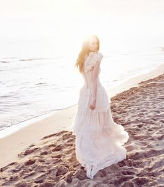 eco-friendly beach wedding dress from Leila Hafzi