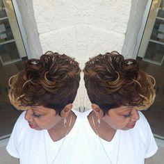 Nichole HowardShear F/X Cafe @nikki_h_stylist Instagram photos   Websta (Webstagram) Short Sassy Hair, Medium Short Hair, Cute Hairstyles For Short Hair, Weave Hairstyles, Short Hair Cuts, Manado, Hype Hair, Hair Creations, Hair Game