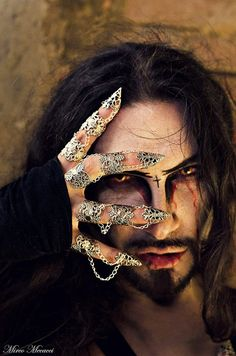 men's Armor for fingers Nail Jewelry, Goth Jewelry, Jewelery, Dragon Claw, Gold Dragon, Costume Halloween, Unique Body Piercings, Full Finger Rings, Armor Ring