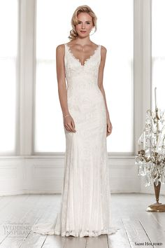 sassi holford wedding dress 2015 bridal signature collection sweetheart neckline with strap low cut back sheath dress style harper