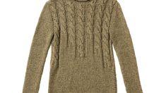 Diesen brauen Pullover mit Zopfmuster zu stricken, ist etwas aufwendiger. Aber der Aufwand wird mit einem tollen Muster belohnt. Rosa Pullover, Sweaters, Dresses, Fashion, Brown Sweater, Brewing, Knit Patterns, Get Tan, Gowns