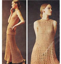 Crochet PDF download pattern , Fancy Dress , Tunic and Trousers Vintage pattern  #292