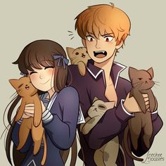 ¯\(◡‿◡✿) /¯: Photo Kyo Manga, Manga Anime, Anime Kiss, Anime Art, Fruits Basket Kyo, Fruit Basket Manga, Fruits Basket Cosplay, Kyo And Tohru, Chibi