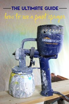 Want to cut down on the time it takes to complete those furniture painting projects? Get a paint sprayer! Here's a complete guide for how to use a paint sprayer for all your furniture makeovers - its easy!