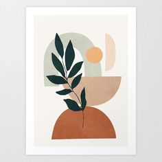 Plant Painting, Plant Art, Plant Stem, Canvas Art, Canvas Prints, Large Art Prints, Modern Art Prints, Posca Art, Leaf Art