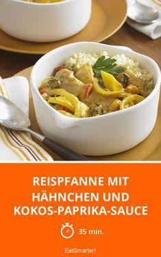 Reispfanne mit Hähnchen und Kokos-Paprika-Sauce - smarter - Zeit: 35 Min. | eatsmarter.de