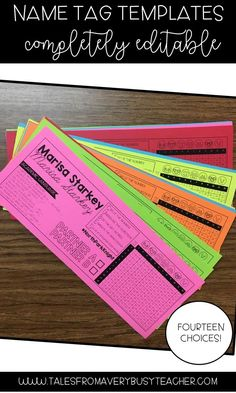 These name tags are perfect for the elementary school classroom. There are fourteen editable templates to choose from! You get academic language frames, multiplication chart and CUBES reference guides for students.