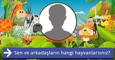 Sen ve arkadaşların hangi hayvanlarsınız?