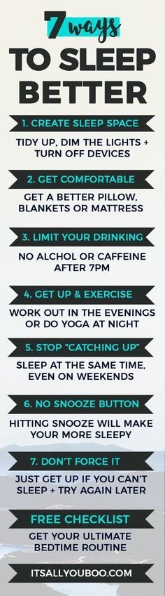 Are you tired of a bad night's sleep affecting your productivity? Here are 7 quick ways to sleep better. Plus, get your FREE bedtime routine checklist. How Can I Sleep, Ways To Sleep, How To Sleep Faster, How To Get Better, Trying To Sleep, Sleep Better, How To Do Yoga, Good Night Sleep, Better Life