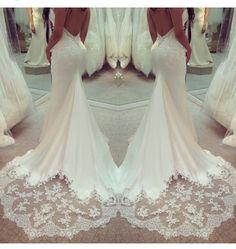 Sima Couture / Beautiful Bridal Train