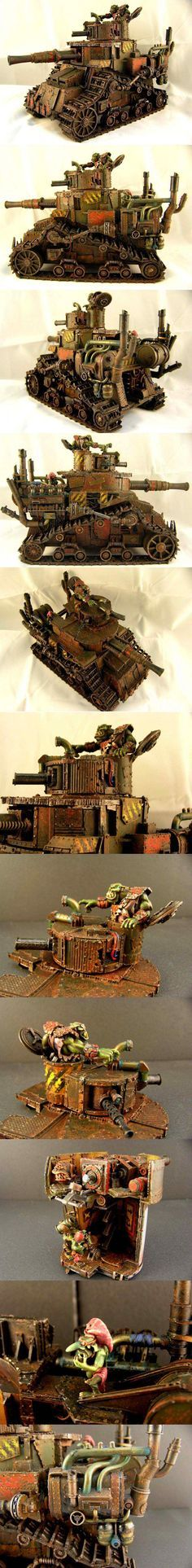 CoolMiniOrNot - ORK KIL KRUSHA TANK by Roman 2.0