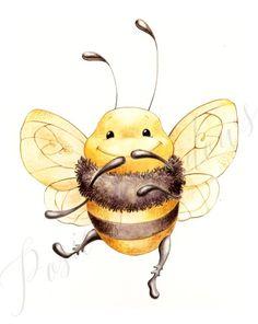 Bumblebee Nursery Bumblebee Art Bumblebee Watercolor Nursery Decor Posie Bugs Bug Nursery Beekeeper Gift Bee Art Save the Bees Art Crocodile, Bumble Bee Nursery, Image Deco, Bug Art, Cute Bee, Bee Happy, Save The Bees, Nursery Art, Nursery Decor