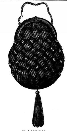 vintage knit purse - more patterns on site