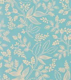 Queen Anne Robin's Egg wallpaper from rifle paper co.