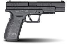 XD® 5″ Full Size Model 9mm caliber #pistol in Black from Springfield Armory® #firearm #handgun