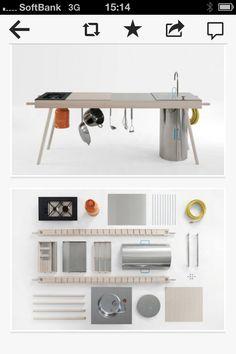 Mobile kitchen. Cool idea !
