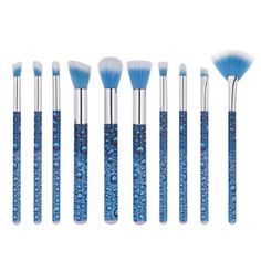 10 pcs Water Drops Makeup Brush Set