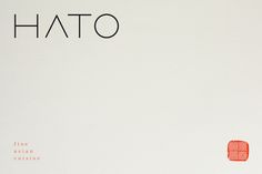 Brand Identity Hato Restaurants Interial