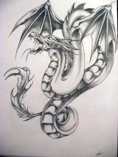 Dragon Tattoos and Designs Dragon Tattoo Drawing, Red Dragon Tattoo, Dragon Tattoo Designs, Pencil Tattoo, Tattoo Set, Emoji Drawings, Badass Drawings, Filipino Tattoos, Beautiful Dragon
