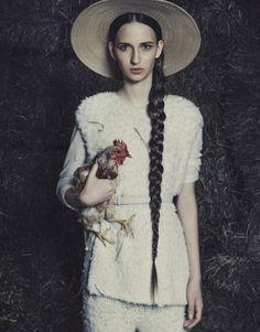 Waleska Gorczevski by Jacques Dequeker for Vogue Brazil July 2014