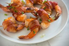 Spicy Sriracha Maple Bacon Wrapped Shrimp Recipe