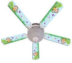 Nojo jungle decor ceiling fan baby and kids lighting by all ceiling fan designers baby monkey mischief with banana indoor ceiling fan awww the ceiling fan designers baby monkey mischief with banana indoor ceiling mozeypictures Images