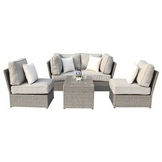Chelsea Grey Wicker Patio Sofa Sectional Furniture Set Conversation Sofa Set by ( Conversation Sofa Set)) >>> Wonderful of your presence to have dropped by to visit our picture. (This is our affiliate link) Sectional Furniture, Pool Furniture, Best Outdoor Furniture, Sectional Sofa, Conversation Sofa, Chelsea Gray, Coffee Table Dimensions, Sofa Set, Wicker