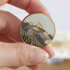 Mountains Enamel Pin
