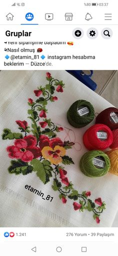 Cross Stitch Bird, Cross Stitch Flowers, Embroidery, Creative, Pattern, Cross Stitch Borders, Crochet Carpet, Diy And Crafts, Counted Cross Stitches