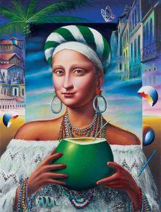 Monnalisa Kids, Lisa Gherardini, Mona Friends, La Madone, Mona Lisa Parody, Mona Lisa Smile, Italian Artist, Illustrations, Oeuvre D'art