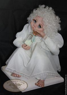 """Купить Коллекционная авторская кукла """"АНГЕЛ ДЕТСКИХ СНОВ"""" - белый, ангел, ангелочек, ангел-хранитель"""