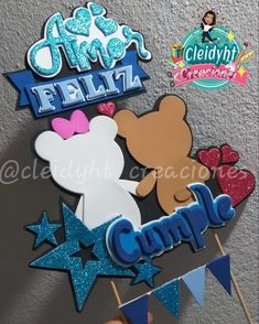 Diy And Crafts, Crafts For Kids, Paper Crafts, Teddy Bear Coloring Pages, Book Page Art, Ideas Para Fiestas, Mickey Mouse Birthday, Note Paper, Cake Toppers