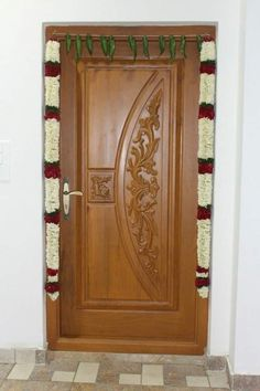 Door for z send floor Pooja Room Door Design, Single Main Door Designs, Wooden Main Door Design, Window Design, Wooden Door Design, Wood Doors Interior, Door Design Interior