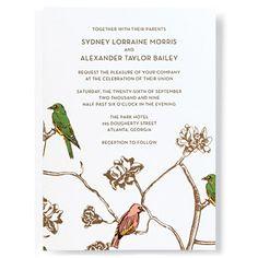 Autumn-Inspired Colorful Bird Invite