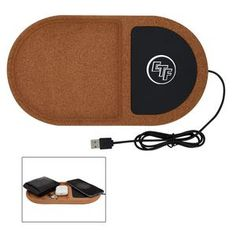 Charge Qi Enabled Devices Wirelessly By Placing Compatible Device On Charging Pad. Storage Tray For Cords, Desk Accessories, Etc. Employee Appreciation, Teacher Appreciation Gifts, Technology Gifts, Employee Recognition, Wireless Charging Pad, Client Gifts, Branded Gifts, Desktop Organization, Tech Gifts