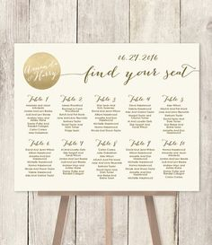 Wedding Seating Chart Sign / Gold Sparkle Wedding Sign / Metallic Gold and Cream / Seating Sign ▷ Printable File {or} Printed & Shipped Sparkle Wedding, Gold Wedding, Wedding Table, Floral Wedding, Wedding Reception, Dream Wedding, Gold Sparkle, Luxury Wedding, Wedding Venues