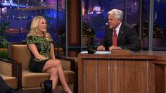 Carrie w/ Jay Leno 4/6/11