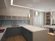 Пляжное настроение - Кухня в современном стиле | PINWIN - конкурсы для архитекторов, дизайнеров, декораторов