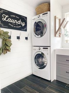 45 The Best Laundry Room Makeover Ideas For Your Dream House - Its one of the most used rooms in the house but it never gets a makeover. What room is it? The laundry room. Almost every home has a laundry room and . Laundry Room Layouts, Mudroom Laundry Room, Laundry Room Shelves, Laundry Room Remodel, Farmhouse Laundry Room, Small Laundry Rooms, Laundry Room Organization, Laundry Room Design, Laundry In Bathroom