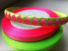 HOW TO: Make A Diamond Style Ribbon Woven Headband by Just Add A Bow - YouTube