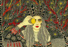 A portrait of Moth Rah by Daria Hlazatova.